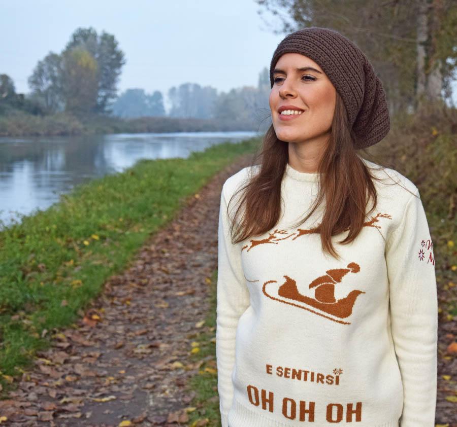 Maglione Natale Bianco Winter Mood 2020 Pantigliate Milano