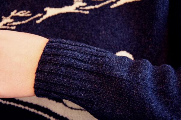 Winter Mood polsino Blu - Maglione di Natale