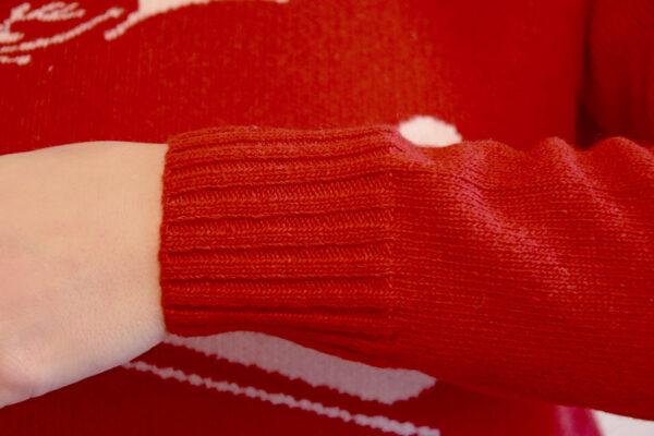 Winter Mood polsino Rosso - Maglione di Natale